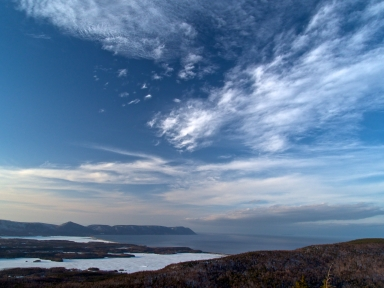 Big sky  overlooking North mountain, Aspy Bay and South Harbour